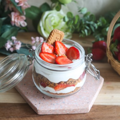Strawberry Biscoff Jar
