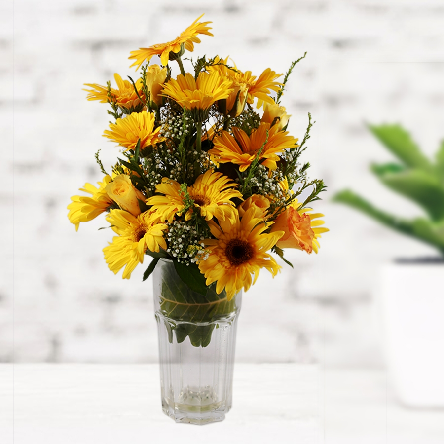 It's a Sunny Day! (Vase with yellow flowers)