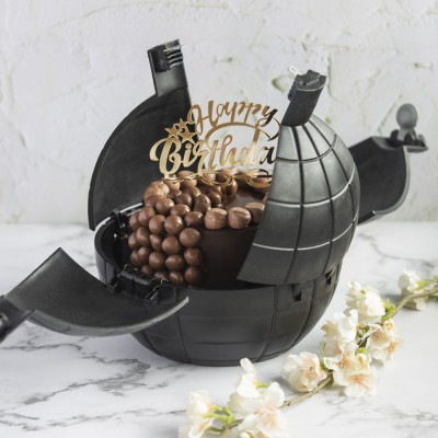 Chocolate Nutties Overloaded Cake With HappY Birthday Topper in a Bomb shell 900gms