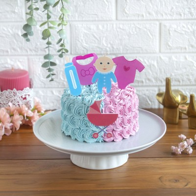 Baby Shower cake 750gms with baby toppers