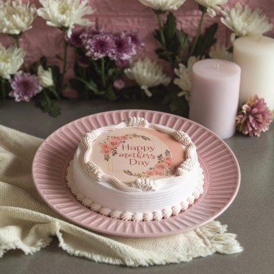 Mother's day pink Photo cake 500gms