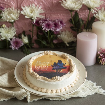 Mother's day Orange Photo cake 500gms