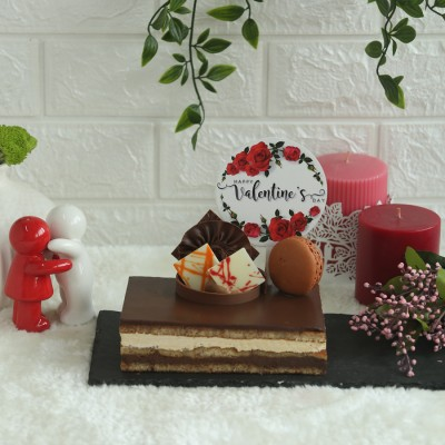 Coffee Opera 500gms(Contains Egg) with valentines floral  topper