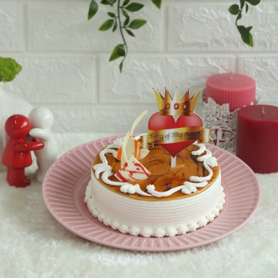 Butterscotch Cake with King of My heart topper