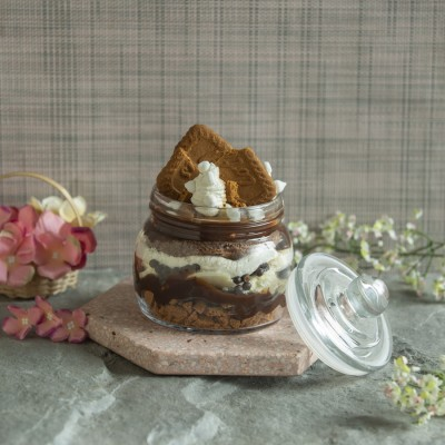 Biscoff Cookies And Salted Caramel Jar 400g Eggless