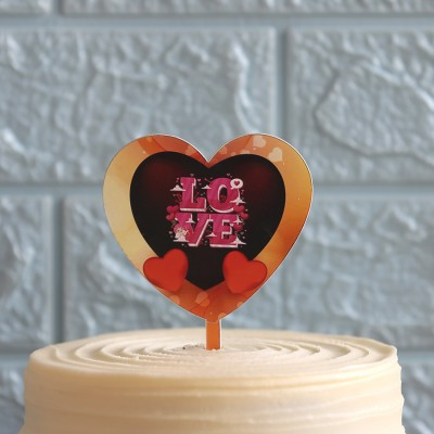 Heart shape love topper