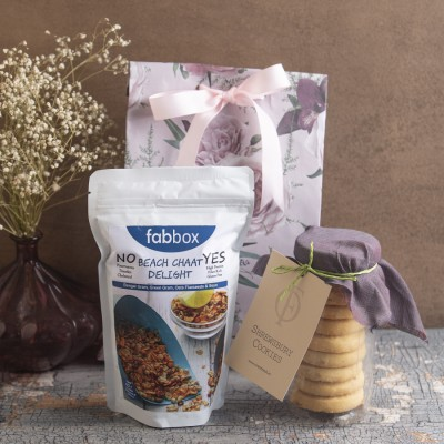 Fabbox Beach Chaat Delight  And Shrewsbury Cookies