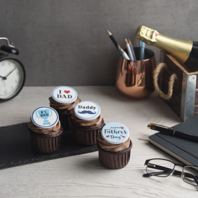 Fathers day Chocolate cup cakes 4pcs