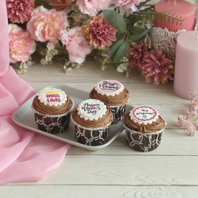 Women's Day Chocolate Cup Cakes