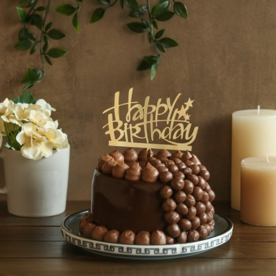 Nutties Overloaded Chocolate cake 750gms with Happy Birthday topper