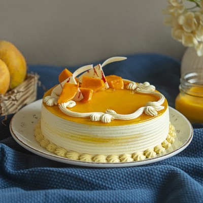 Fresh Cream Mango Cake 500gms