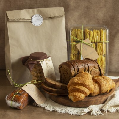 Multigrain Bread , Date Walnut cake, Multigrain cookies , Methi Khari , Cheese Paprika croissants(2pcs)