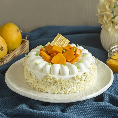 Mango white chocolate cake 500gms