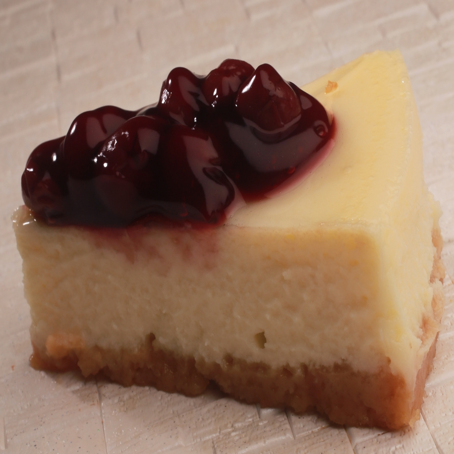 baked cherry cheese cake pastry 2pcs