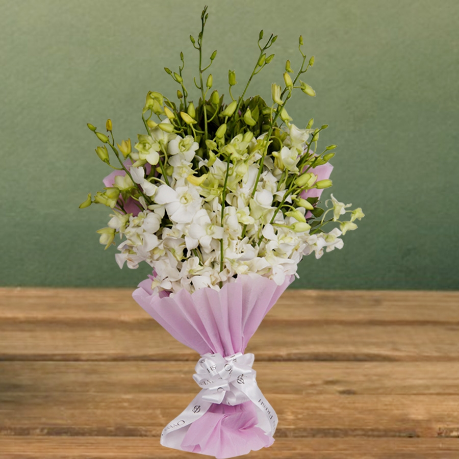 Bouquet of White orchid