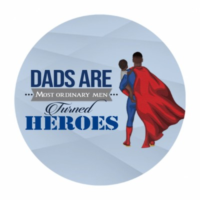 Dads Are Heroes Photo Cake 500gms