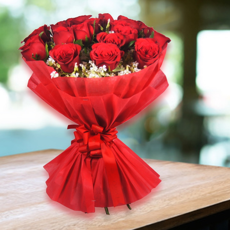 EverRed Love    (Hand bouquet of Red Roses)
