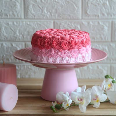 Shaded Pink Rosette cake 750gms