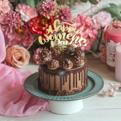 Ferrero Rocher chocolate cake 750gms with Happy Women,s Day Topper