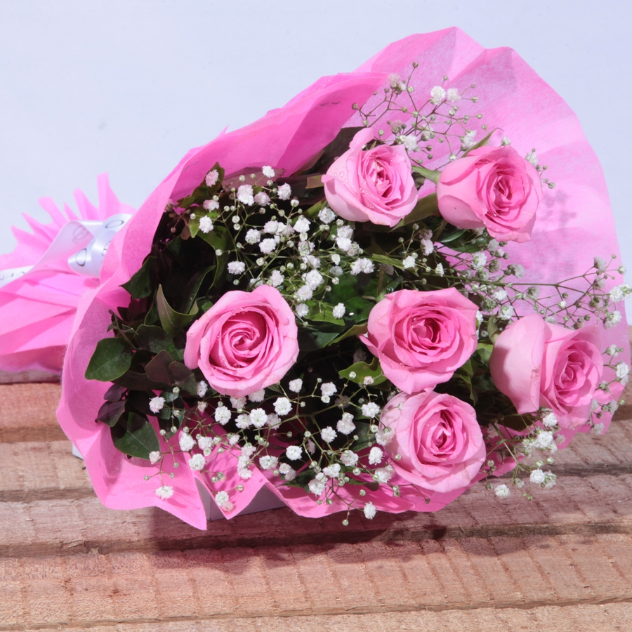 Pink for Her ( Bouquet of 6 Pink roses)