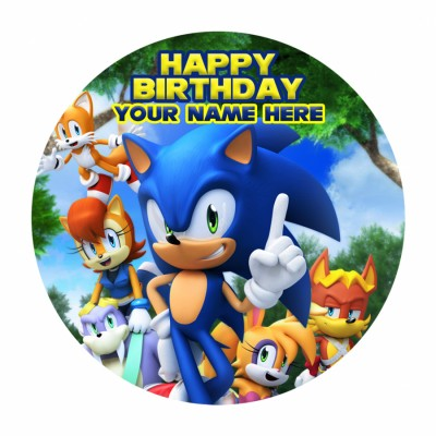 Sonic And Friends Photo Cake 500gms