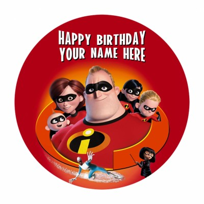The Incredibles Photo cake 500gms