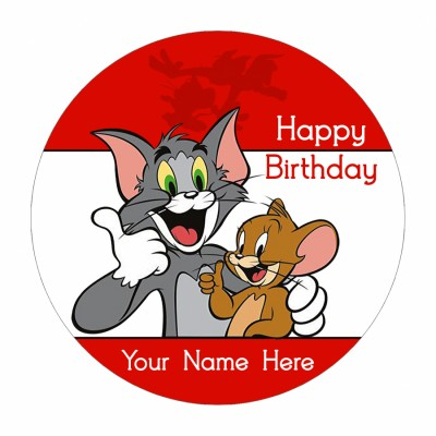 Tom And Jerry Photo Cake 500gms.