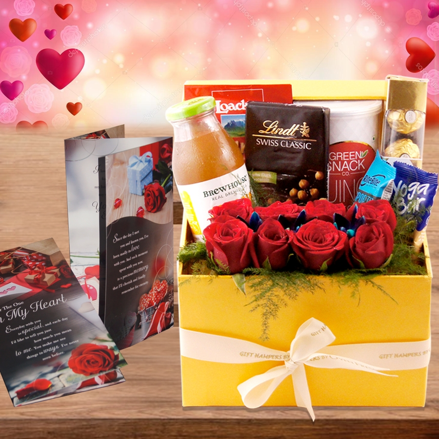 Valentines Day Hamper Regale the Delicacies GH041  With Card