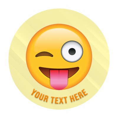 Wink Face With Tongue Face Emoji Photo Cake 500gms